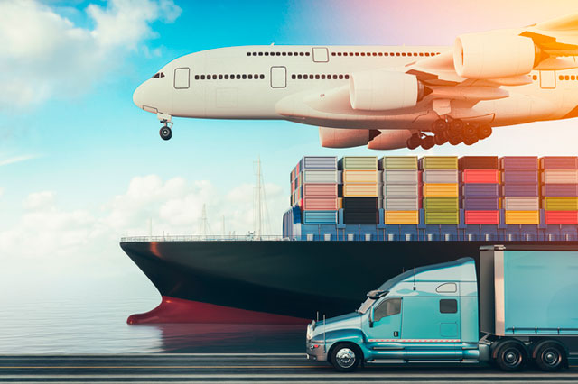 plane truck ship